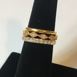 Jewelry - Set of Three Gold Colored Rings